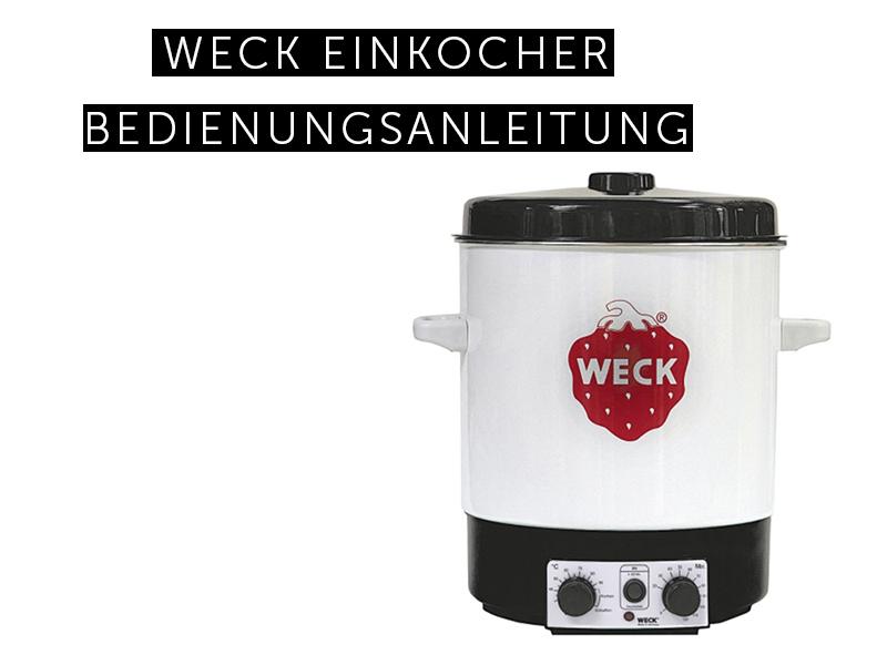 Einkocher ohne Zeitschaltuhr 1800 Watt Einkochautomat